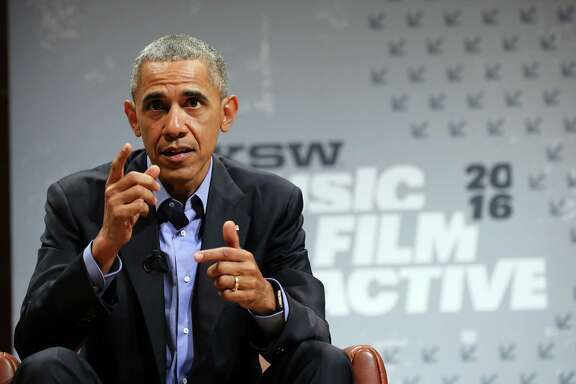 President Barack Obama said society will have to decide how to balance the risks of privacy and government access. He was the keynote speaker at 2016 SXSW Music, Film & Interactive Festival in Austin on Friday.