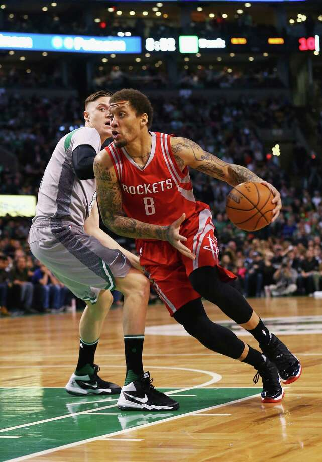 BOSTON, MA - MARCH 11:  Michael Beasley #8 of the Houston Rockets drives against Jonas Jerebko #8 of the Boston Celtics during the first quarter at TD Garden on March 11, 2016 in Boston, Massachusetts. NOTE TO USER: User expressly acknowledges and agrees that, by downloading and/or using this photograph, user is consenting to the terms and conditions of the Getty Images License Agreement.  (Photo by Maddie Meyer/Getty Images) ORG XMIT: 575731029 Photo: Maddie Meyer / 2016 Getty Images