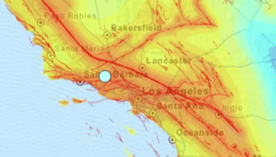 A moderate earthquake shook Southern California early on Saturday, March 12, 2016. Photo: USGS