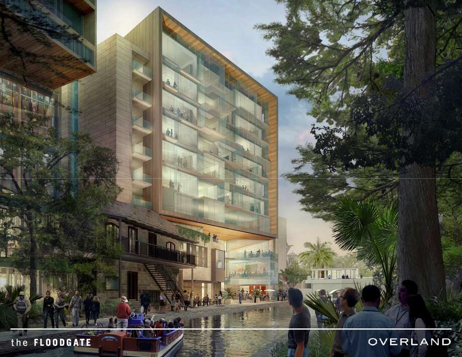 Local developer Keller Henderson plans to build a 10-story upscale apartment building along the River Walk. Photo: Courtesy