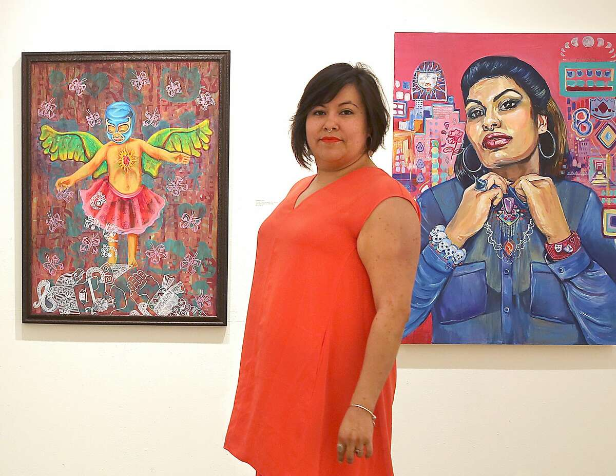 FILE-- Gallery Executive Director Ani Rivera at Gallery De La Raza in San Francisco in March 2016.Galería de la Raza, the 24th Street art gallery and studio space that has been an anchor of the Mission Districts Latino cultural district for nearly a half century, is facing eviction after its landlord proposed a lease that would double the rent and require the nonprofit to spend more than $1 million to make the space handicapped accesssible.