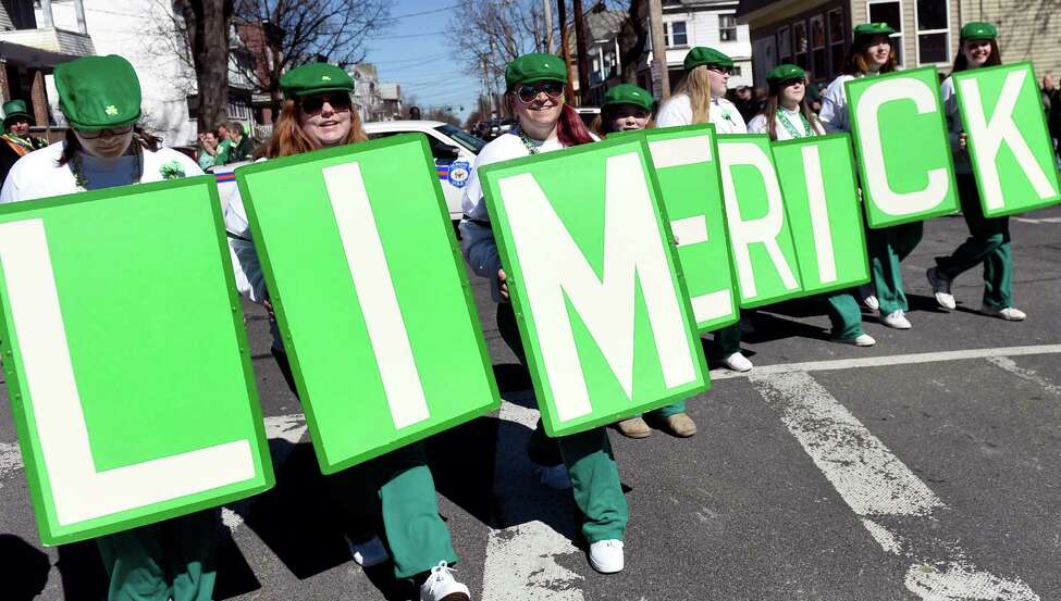 The North Albany Limericks step off for their St. Patrick's Parade on Saturday, March 12, 2016, in Albany, N.Y. (Cindy Schultz / Times Union)