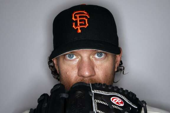 This is a 2016 photo of Jake Peavy of the San Francisco Giants baseball team. This image reflects the 2016 active roster as of Sunday, Feb. 28, 2016 when this image was taken.  (AP Photo/Morry Gash)