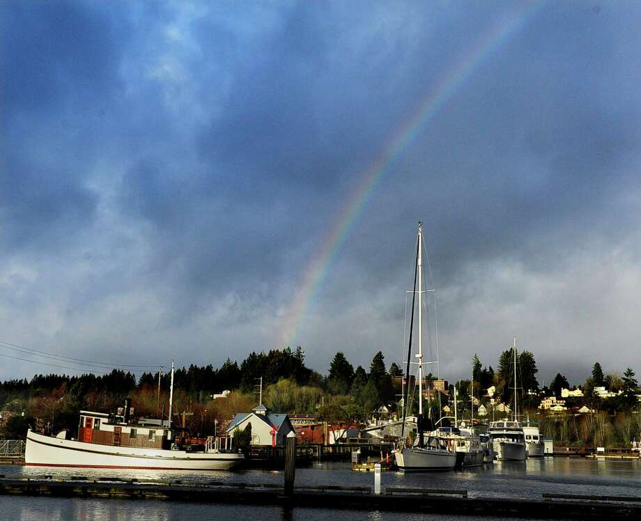 OlympiaFeb. 9 precipitation: 1.51 inchesThis lovely rainbow scene was nowhere in sight Thursday, as Olympia saw almost all of February's monthly average rain fall in one day. Photo: Steve Bloom, AP / The Olympian
