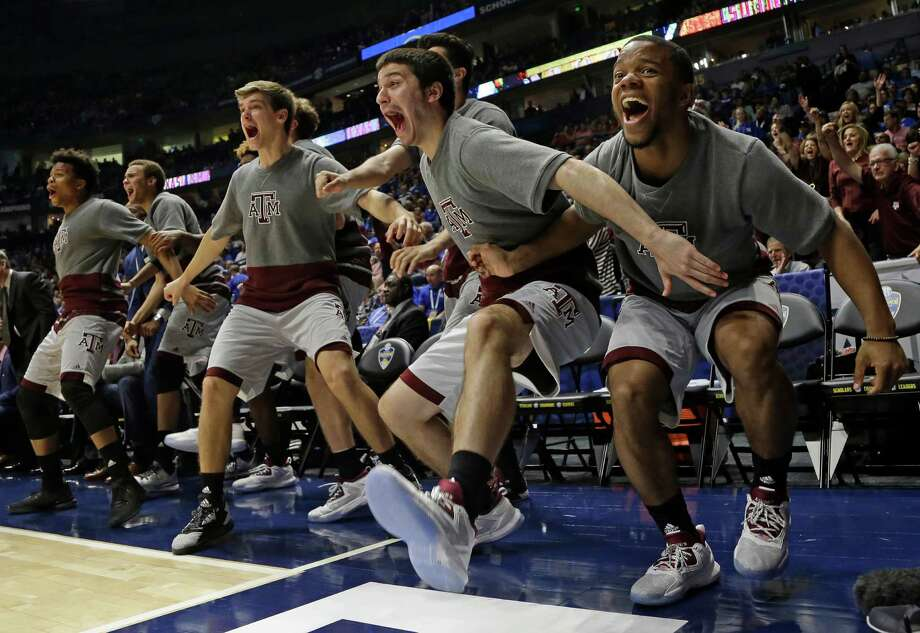 A&M players hope to keep the celebration going after today's championship game against Kentucky. Photo: Mark Humphrey /Associated Press / AP