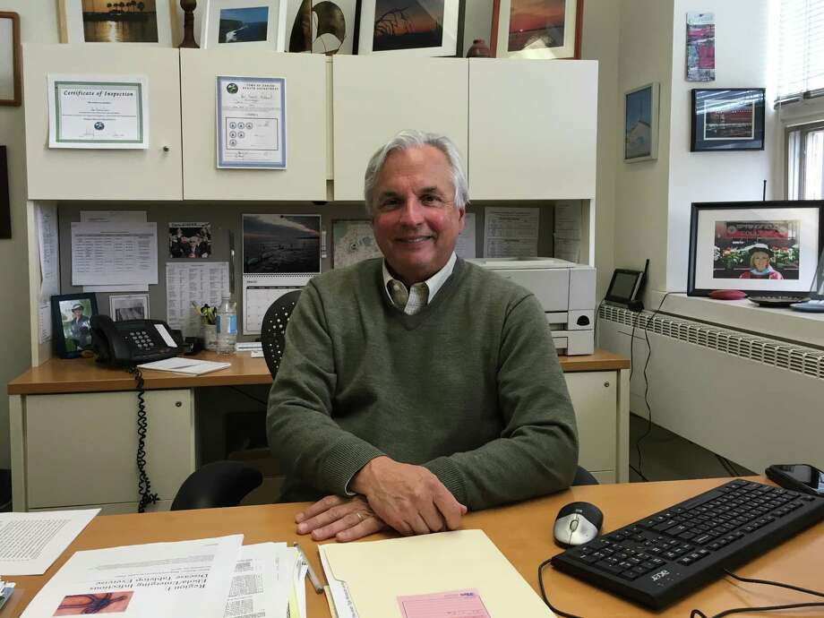 David Knauf, director of the Darien Health Department, in his office. Photo: Justin Papp / Justin Papp
