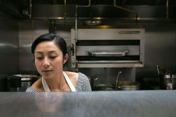 Nite Yun in the kitchen preparing for dinner service Nyum Bai at Gashead Tavern in S.F.