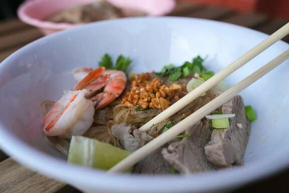 The dry Kuy Tio Phnon Pehn from Nyum Bai Cambodian pop-up S.F.