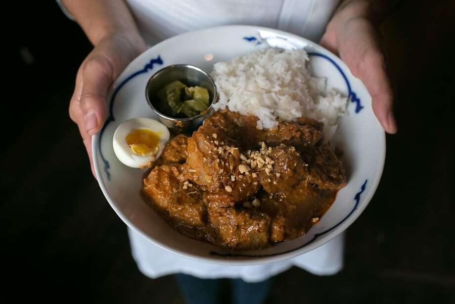 Beef curry with rice at Nyum Bai Cambodian pop-up. in S.F. Photo: Jen Fedrizzi, Special To The Chronicle