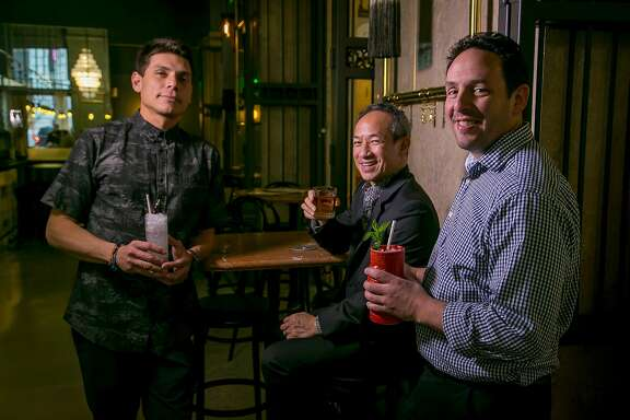 Left to right; Carlos Yturria, Arnold Eric Wong and Phil West at the Treasury in San Francisco, Calif., are seen on March 12th, 2016.