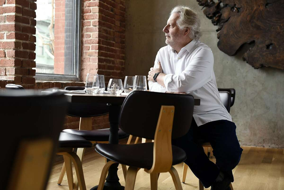 Jonathan Waxman poses for a portrait in his new restaurant