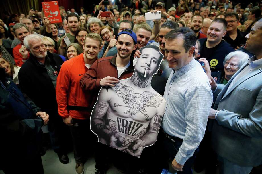 Republican presidential candidate, Sen. Ted Cruz, R-Texas, poses for photographs during a campaign stop on Sunday, March 13, 2016, in Columbus, Ohio. Photo: Matt Rourke