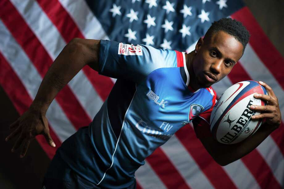 Rugby player Carlin Isles poses for a portrait at the 2016 Team USA Media Summit, March 7, 2016 in Beverly Hills, California.  The 2016 Summer Olympics will be held in Rio de Janeiro, Brazil August 5-21. / AFP / VALERIE MACON / RESTRICTED TO EDITORIAL USEVALERIE MACON/AFP/Getty Images Photo: VALERIE MACON / AFP or licensors