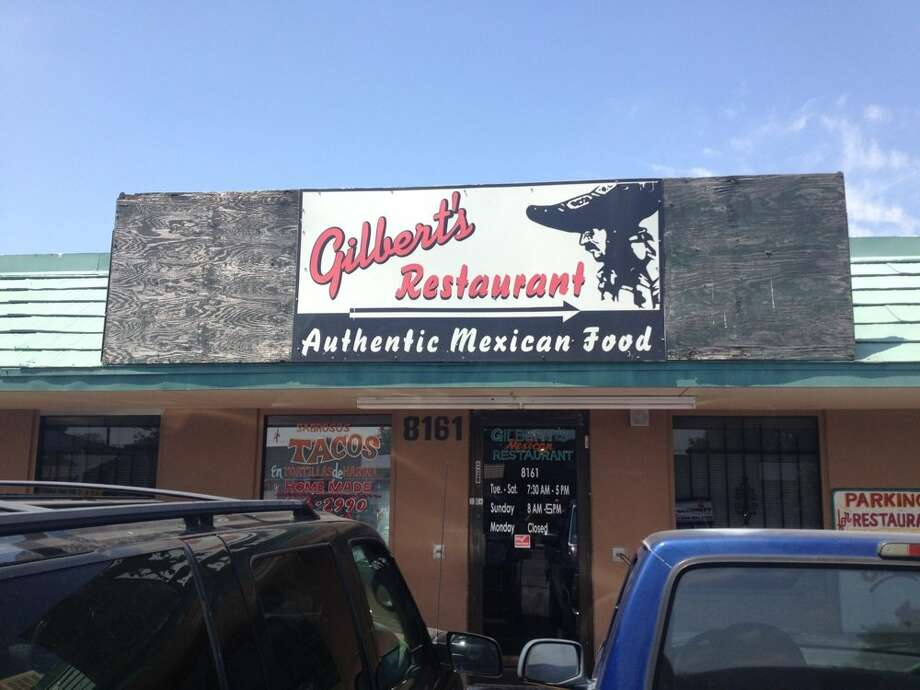 Gilberts Restaurant: 8161 Latigo Dr., San Antonio, TX 78227 Date: 07/25/2017 Score: 63Highlights: Food not protected from cross contamination (chips stored directly next to hand sink); water not draining from mop sink; food (tamales, cheese, cooked beef strips, refried beans) not held at correct temperature; employee seen cracking raw shelled eggs, pick up shells off floor, then handle ready-to-eat tortilla; foods not cooled properly; poisonous/toxic materials not properly labeled (dish soap, spray bottles); no certified food manager present at time of inspection; dust buildup seen on walls of kitchen; permit was expired at time of inspection Photo: Image Via Jerry S. On Yelp