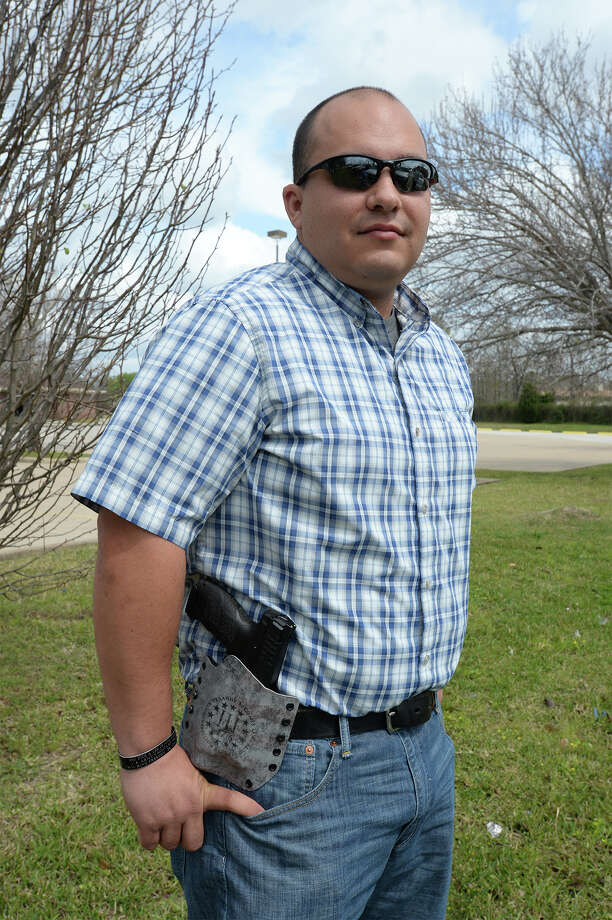 Jared Scoggan said he plans to set up a volunteer service that allows for online gun purchasers to buy guns. Photo taken Monday, March 07, 2016  Guiseppe Barranco/The Enterprise Photo: Guiseppe Barranco, Photo Editor