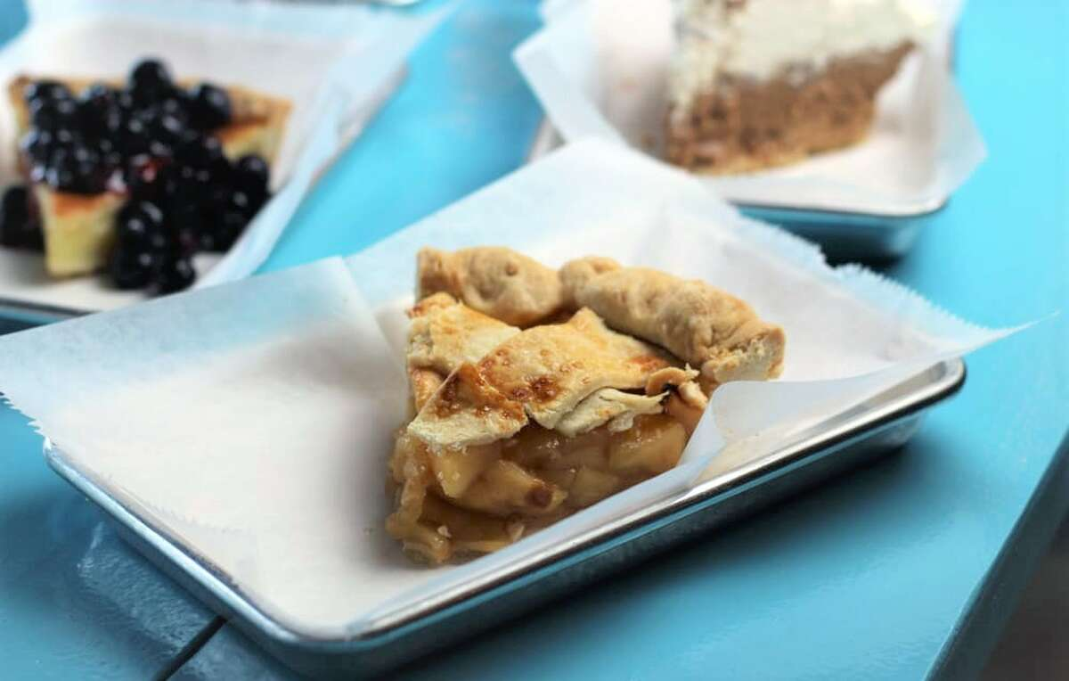 Proud Pie 3522 S Mason Road Ste. 300, KatyThis coffee shop offers house-made pies featuring local produce.Pictured: Fuji butter crust apple pie. (Photo: Yelp/Proud Pie)