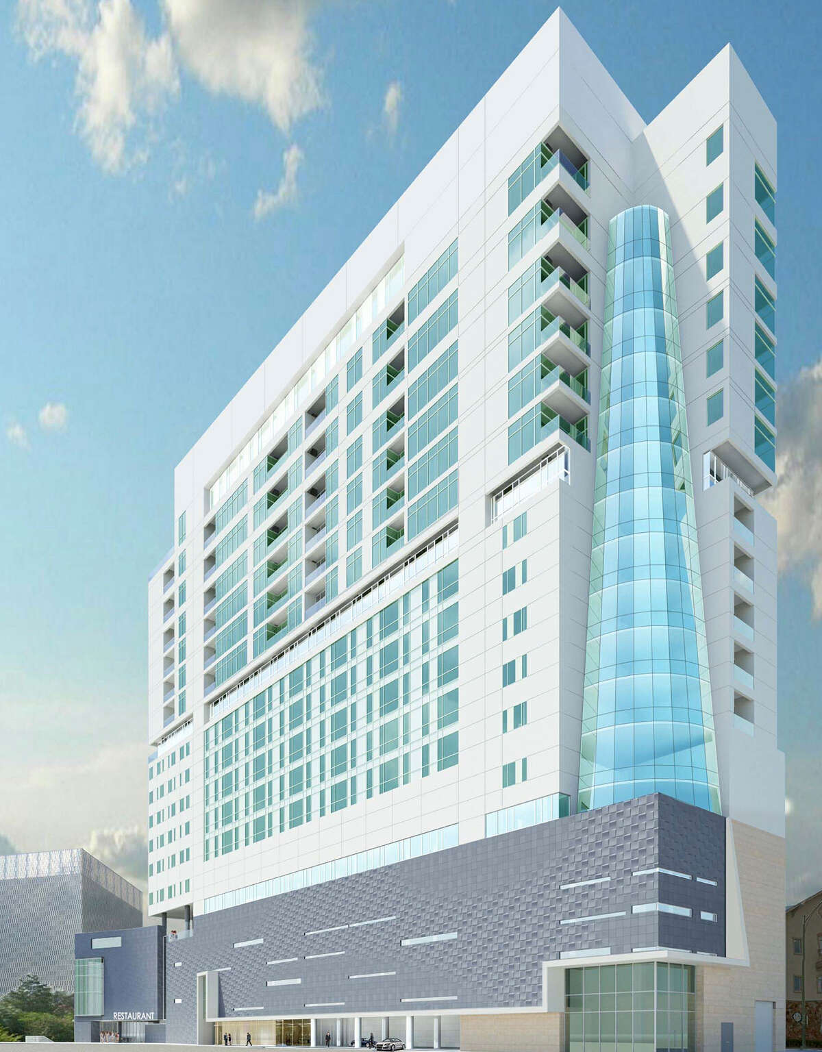 Powers Brown Architecture has submitted plans to the city for a tower on a vacant lot at 101 Lexington Ave. The tower would include seven levels of parking, six of hotel space and seven of condominiums.
