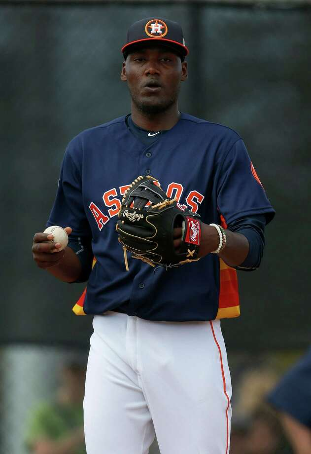 Astros prospect David Paulino says he learned a a lot of things during his stint in big-league camp. Photo: Karen Warren, Houston Chronicle / © 2015  Houston Chronicle