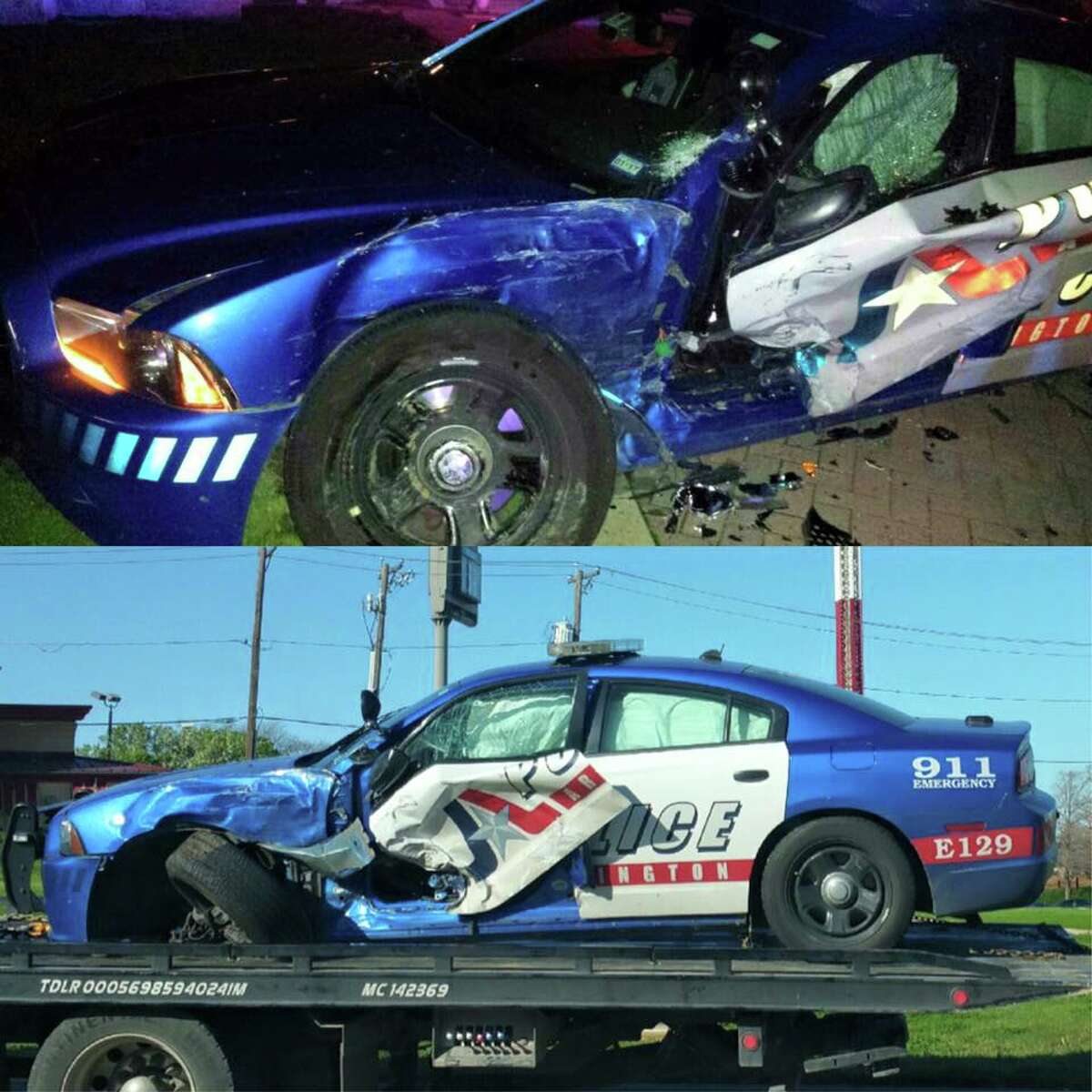 Josue Pablo Mendez-Gurrero has been charged with aggravated assault of a public servant and evading arrest after allegedly crashing his car into a police patrol car and pinning the officer inside after a high-speed chase early Sunday morning.