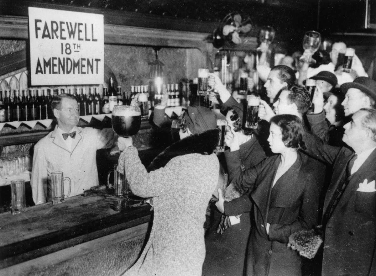 Prohibition The 18th amendment to the Constitution was enacted in 1920, prohibiting the manufacture, transportation or sale of alcohol. The 21st amendment repealed it in 1933, but not before organized crime because big business in teh United States.