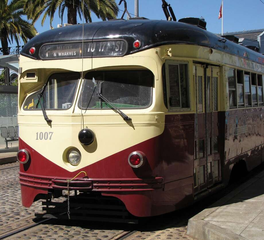 A streetcar at Market and Steuart streets in San Francisco offers an enjoyable ride as well as a history lesson on public transportation. Photo: Stephanie Wright Hession