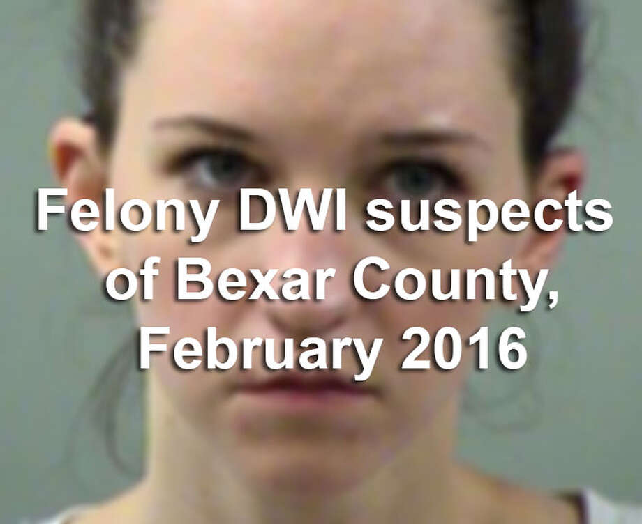 Scroll through the slideshow to see the 57 suspects arrested during February 2016 in Bexar County on suspicion of felony drunken driving.