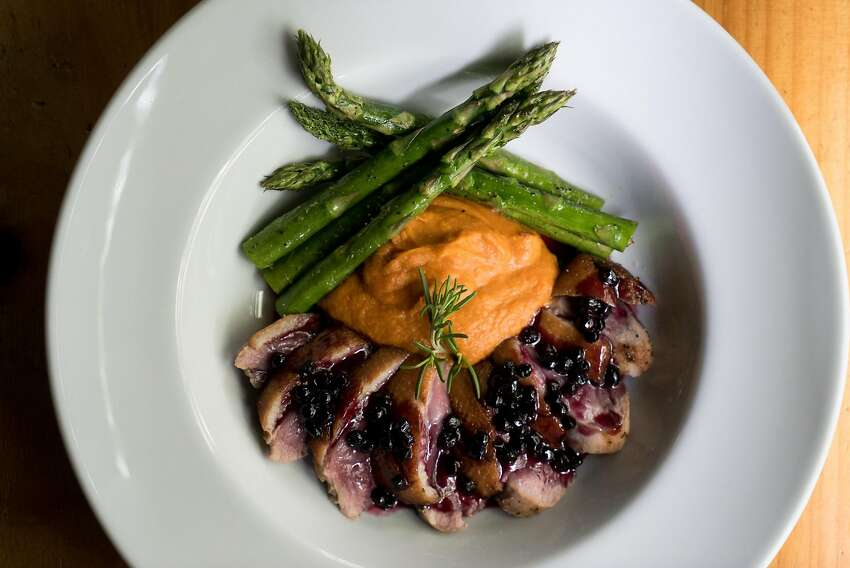 Mustard Seed offers fine dining such as pan-seared duck.