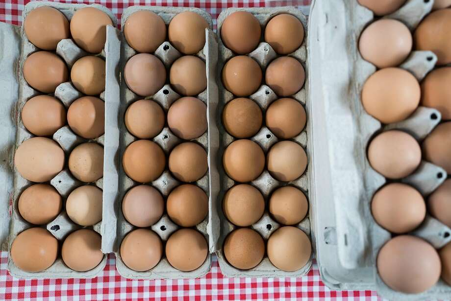 Eggs from Skyelark Ranch. Photo: James Tensuan, Special To The Chronicle