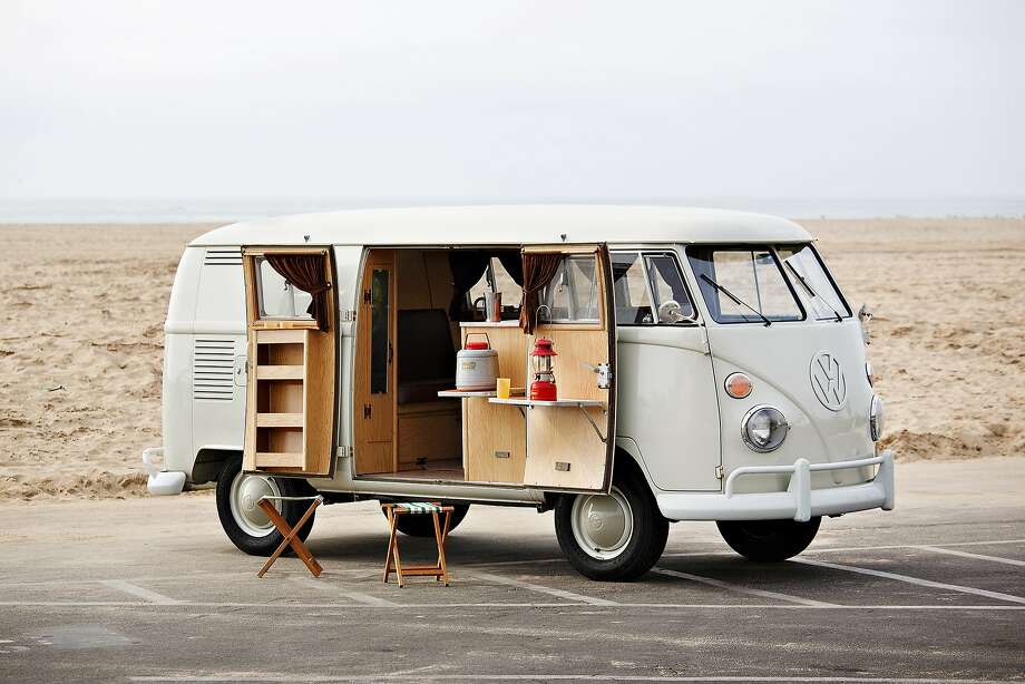 "1964 Volkswagen Camper ""EZ Camper"" conversion""When my kids were little we would drive around in this bus every Sunday to get bagels and lox. The little kitchen drives them wild. We got busted by the cops with it for putting up an illegal lemonade stand this past summer in the Hamptons."" - Jerry Seinfeld Photo: Brian Henniker / © Gooding @ Company"