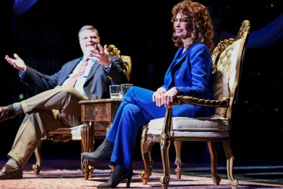 Sophia Loren at Proctos with Joe Donahue. Photo by Richard Lovrich/Proctors.