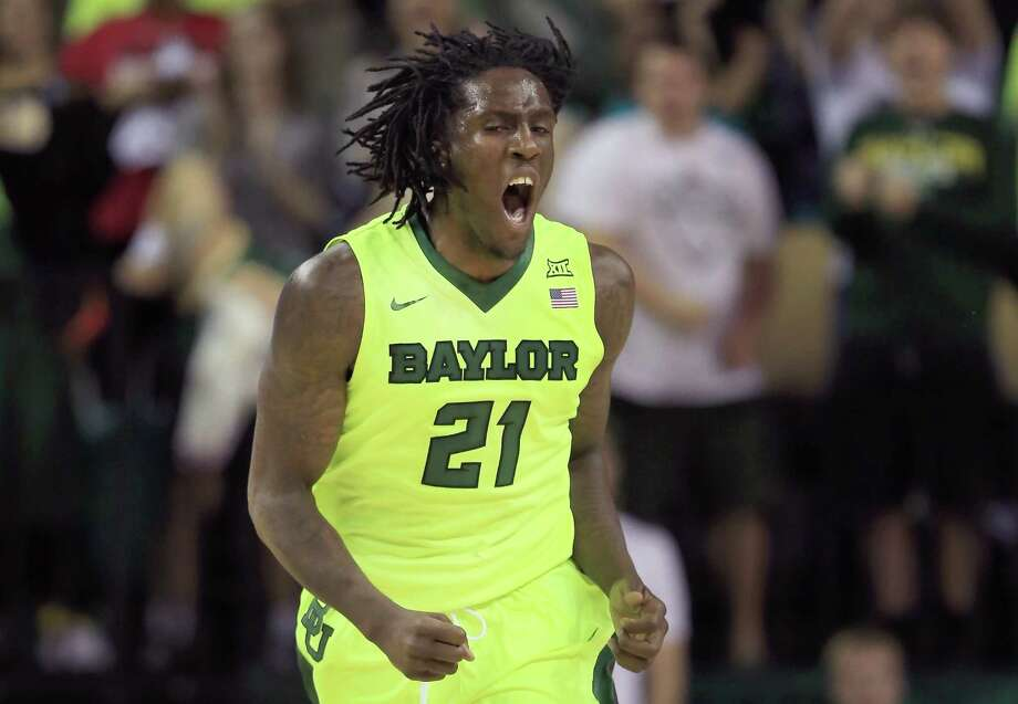 Taurean Prince of the Baylor Bears celebrates after scoring against the Iowa State Cyclones in the first half at Ferrell Center on Feb. 16, 2016 in Waco Photo: Tom Pennington /Getty Images / 2016 Getty Images