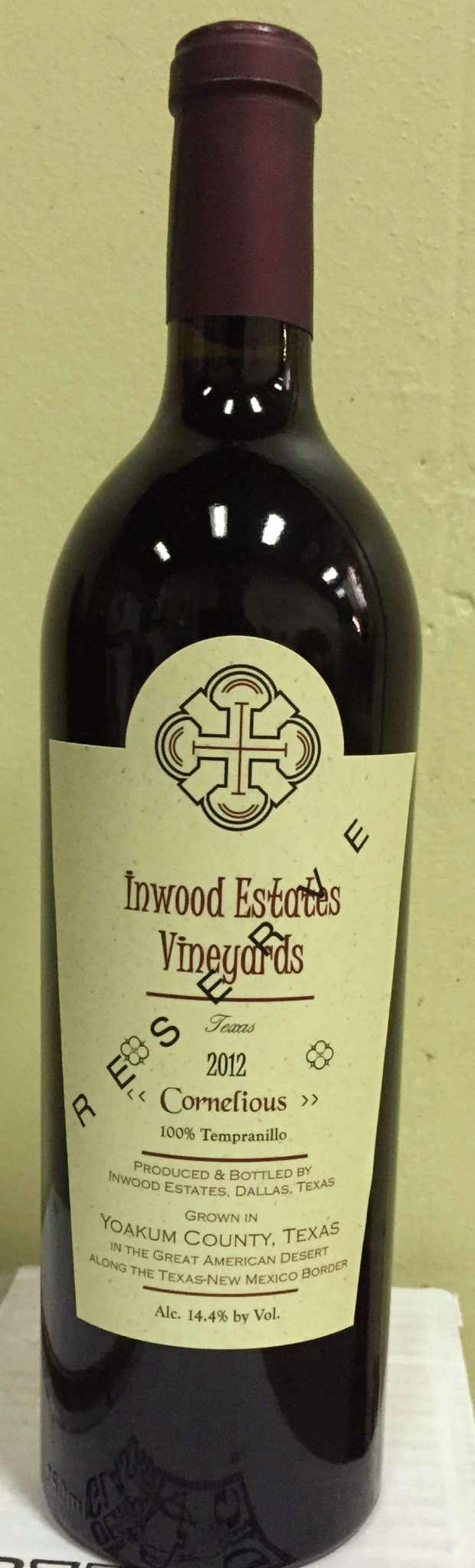 Inwood Estates 2012 Cornelious Reserve Tempranillo