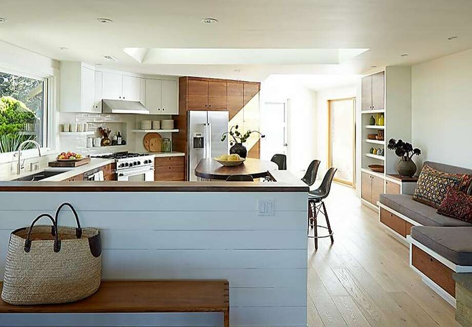 Kitchen Redesign mill valley kitchen redesign mixes white and dark walnut - san