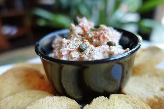 A few ounces of baked or grilled salmon (or other grilled fish) can morph into a creamy dip.