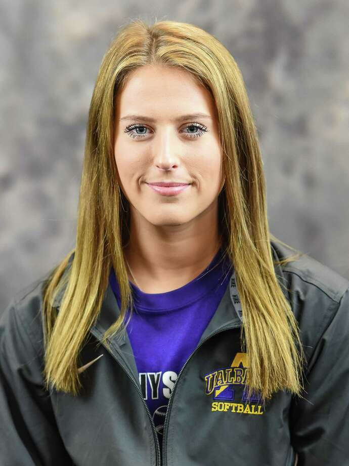 Averill Park graduate McKenzie Bump of the UAlbany women's softball team. (UAlbany sports information) Photo: Bill Ziskin / Copyright Bill Ziskin, all rights reserved.