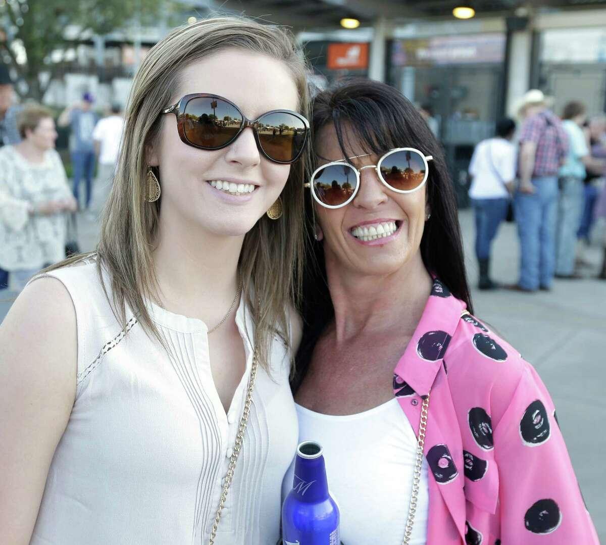 Kenny Chesney fans at RodeoHouston on Monday.