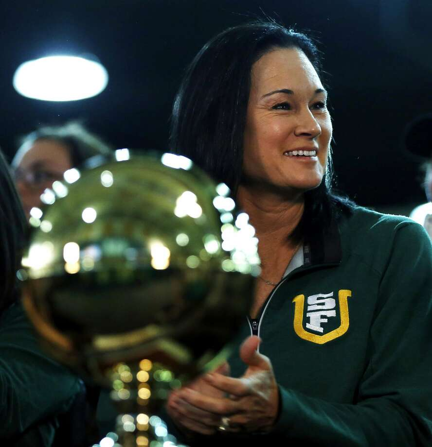 Jennifer Azzi led USF to the women's NCAA Tournament in March by winning the WCC tournament title. Photo: Connor Radnovich, The Chronicle