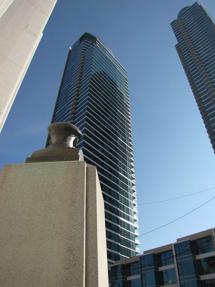 Two of the housing towers that have gone up in recent years on Rincon Hill. Photo: John King