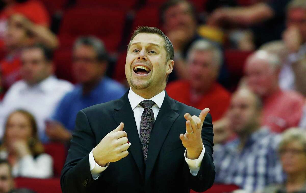 HOUSTON, TX - MARCH 14: Head coach David Joerger of the Memphis Grizzlies waits near the bench during their game against the Houston Rockets at the Toyota Center on March 14, 2016 in Houston, Texas.