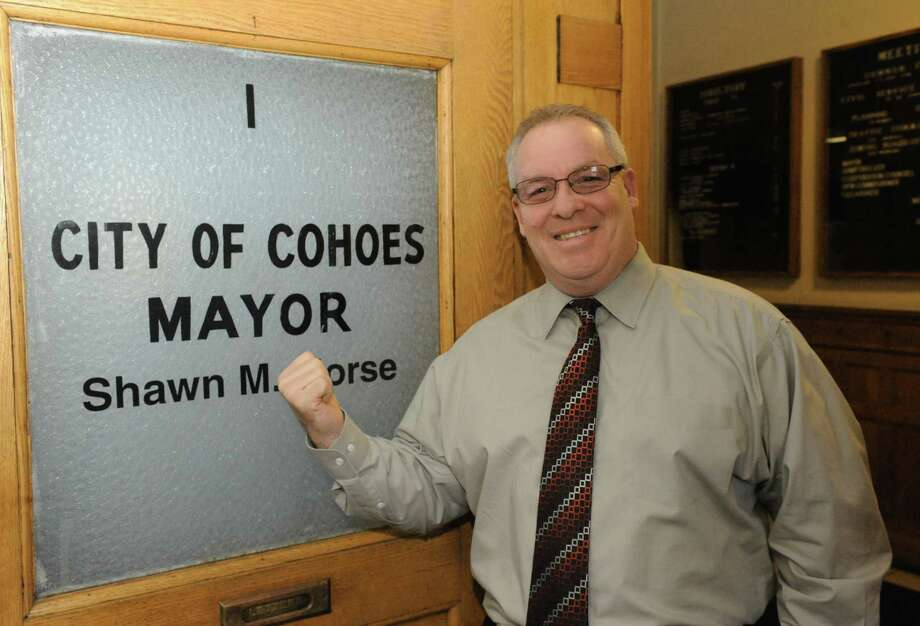 Cohoes Mayor Shawn Morse on Tuesday, Feb. 9, 2016, in Cohoes, N.Y.  (Michael P. Farrell/Times Union) Photo: Michael P. Farrell / 10035339A
