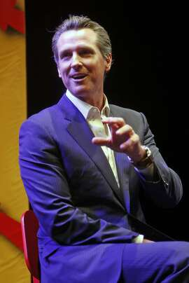 Lt. Gov. Gavin Newsom during Fun Home event at Curran Theatre in San Francisco, Calif., on Monday, March 14, 2016.