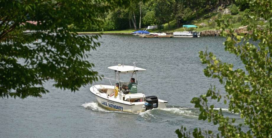 A Candlewood Lake Authority boat on Candlewood Lake on Thursday, August 20, 2015. Photo: H John Voorhees III / Hearst Connecticut Media / The News-Times