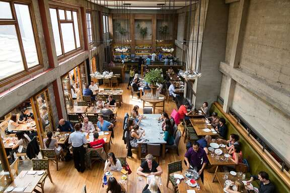Patrons dine inside the dining area of Foreign Cinema during brunch in San Francisco Calif., Sunday, September 28, 2014