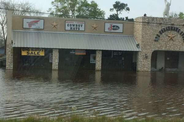 Flood waters swamped many areas in East Texas as rains from northern Texas and Louisiana moved down the Sabine River, Tuesday, March 15, 2016.