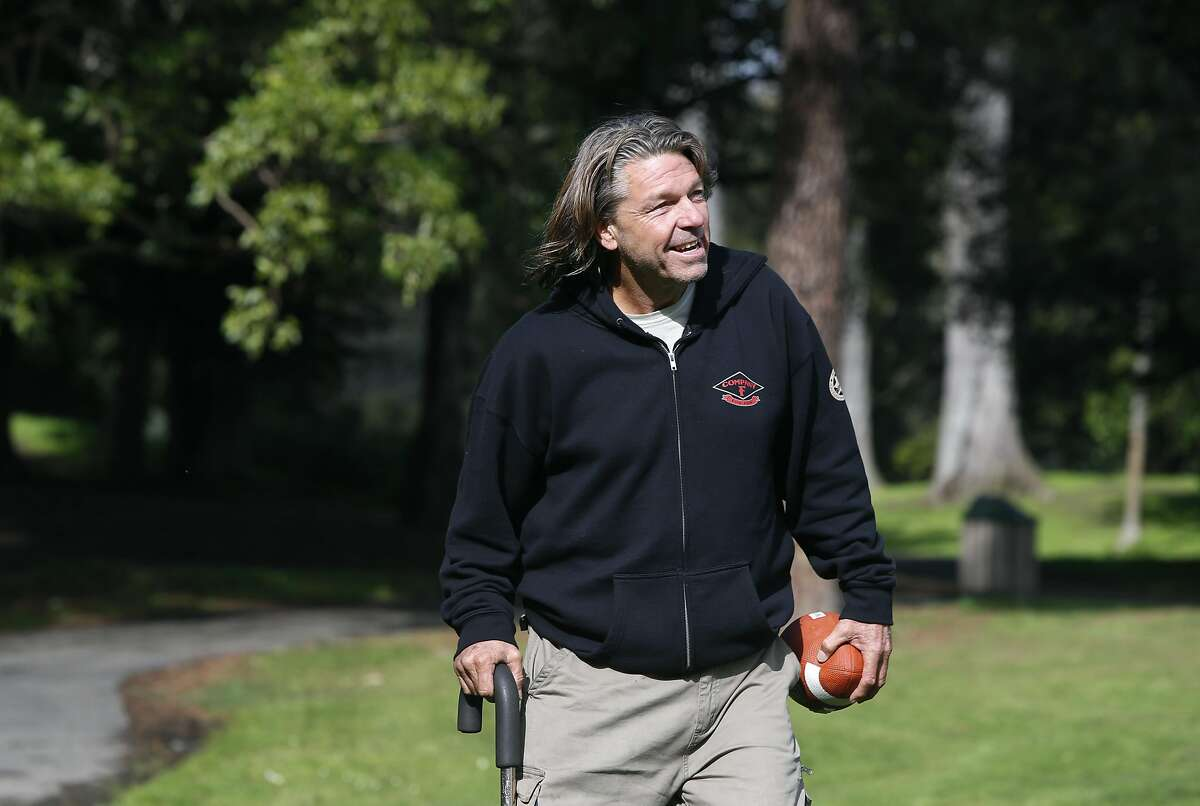 Matthew Hay-Chapman walks in Golden Gate Park in San Francisco, Calif. on Tuesday, Feb. 2, 2016 near the location where two Orange County jail escapees were apprehended after he recognized the fugitives in the McDonald's across the street and pointed them out to police last Saturday.