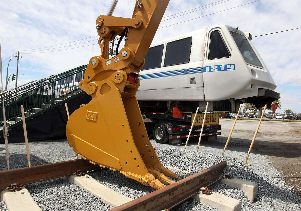 After years of budget talks, elections and dreaming federal, state, and local Silicon Valley officials broke ground on the BART Berryessa Extension Project in San Jose Thursday, April 12, 2012.