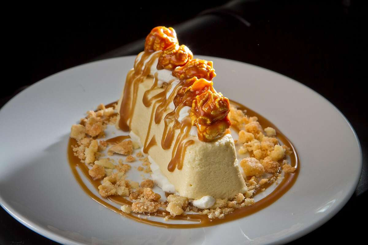 Menu terms, defined 23. Semifreddo - 51 percentA partially frozen Italian dessert. Shown: butterscotch semifreddo.Source: OpenTable