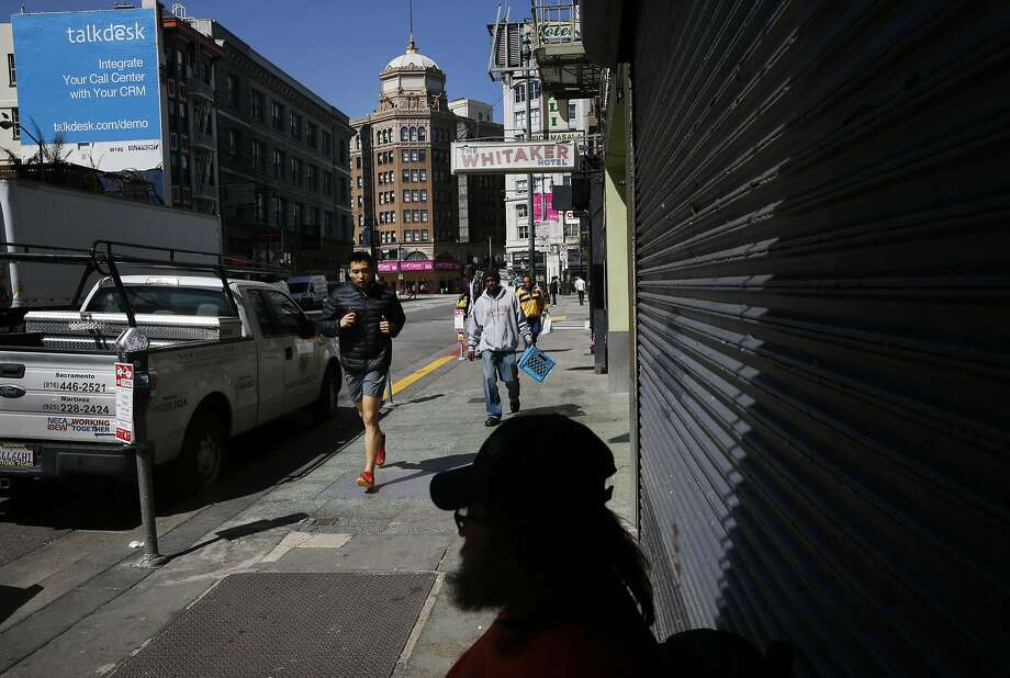 Timothy Haggard, 54, rests on Sixth Street. Concerns over homelessness are fueling dissatisfaction in S.F. Photo: Leah Millis, The Chronicle