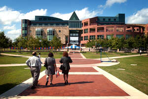 The downtown campus of UTSA has become a dominant figure in the future of Cattleman Square. photo bob Owen