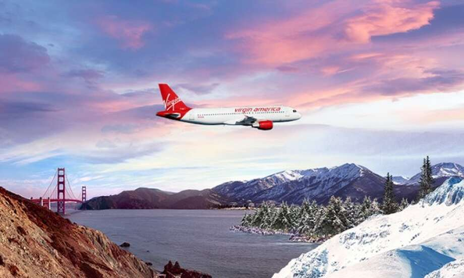 "SFO-Denver is one of 5 routes to be cut by Alaska Airlines. Promotional photo to launch Denver flights boasted about the ""Silicon Valley to Silicon Mountain"" route Photo: Virgin America"